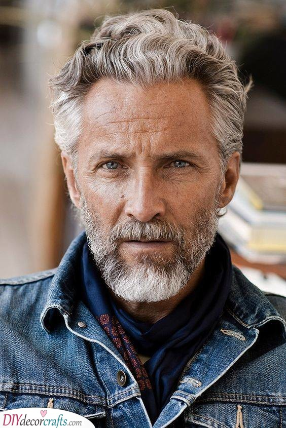 Soft Waves and Curls - Best Haircuts for Older Men