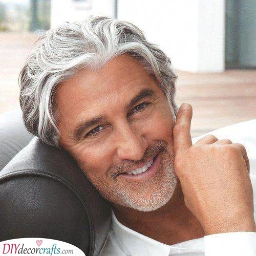 Brush it to the Top - Older Mens Long Hairstyles