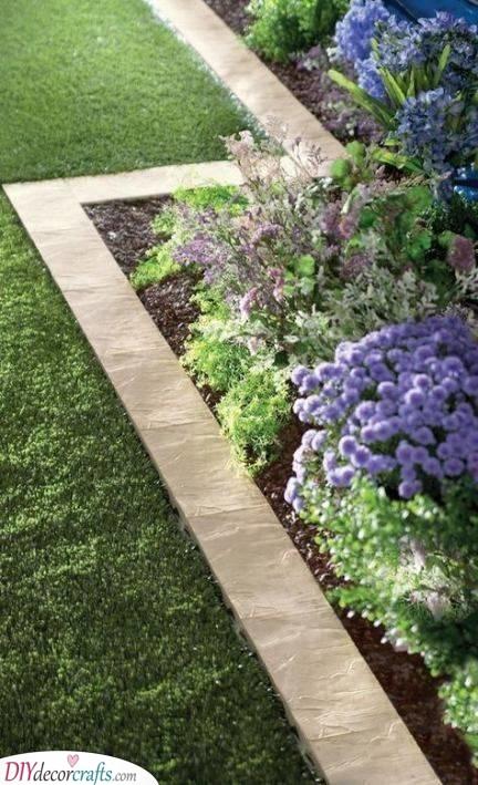 Using a Set of Stones - Creative Garden Edging Ideas