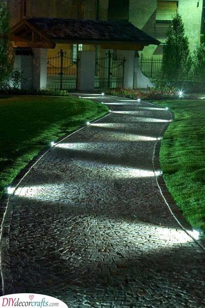 Lighting Up the Path - An Elegant Scenery