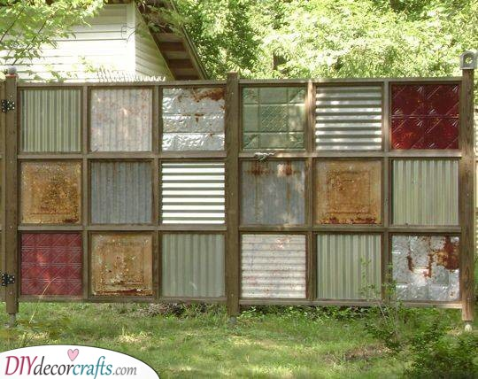 Recycle and Reimagine - Cheap Fence Ideas for Backyard