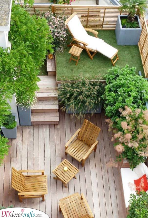 A Chill Ambience - Very Small Garden Ideas on a Budget