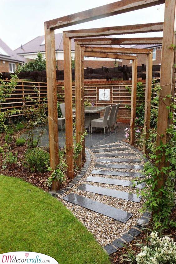 Filled with Wood - Very Small Garden Ideas on a Budget