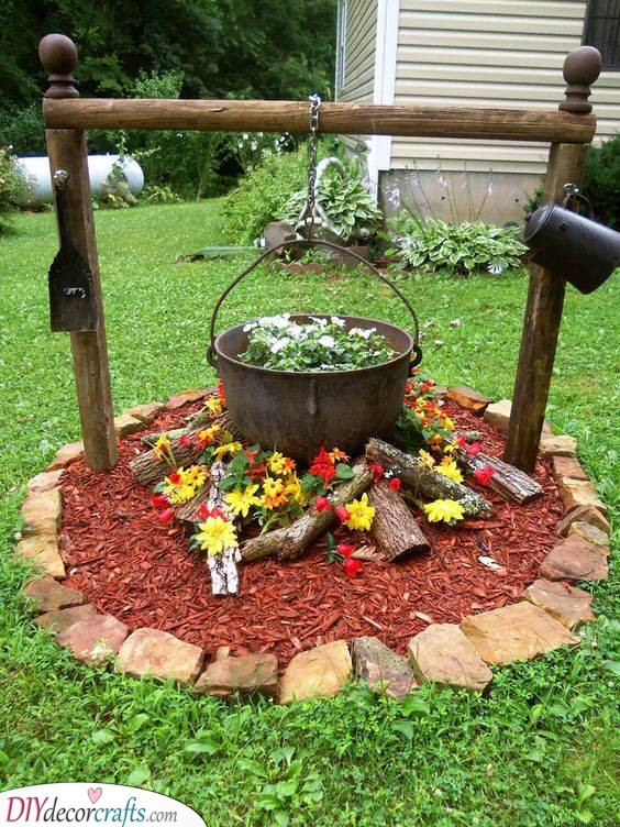 Funny and Cute - A Fireplace of Flowers