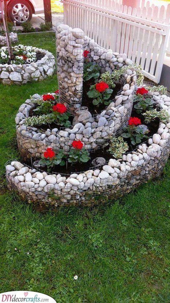 Spiralling Flower Beds - Garden Bed Ideas