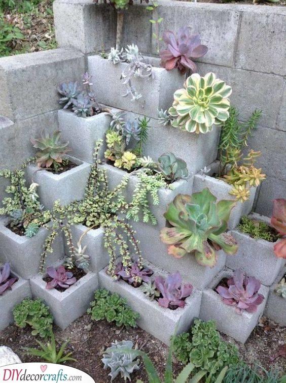 Using Cinder Blocks - Gardening Hacks