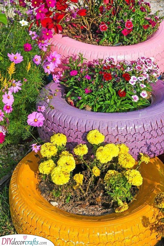 Reuse Old Tires - Fantastic and Funky