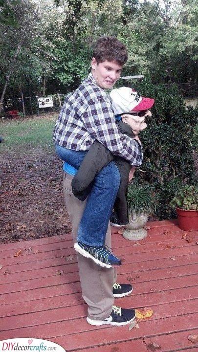 A Piggyback Ride - Fun and Hilarious