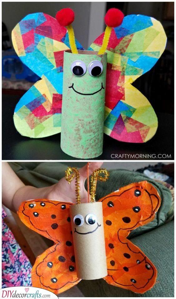 Unique Butterflies - Toilet Paper Rolls