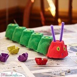 The Very Hungry Caterpillar - Egg Carton Ideas