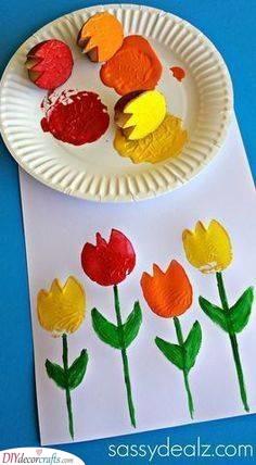 A Garden of Tulips - Spring Craft Ideas