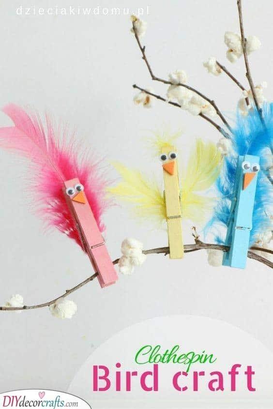 Cute Little Birds - Wooden Peg Crafts