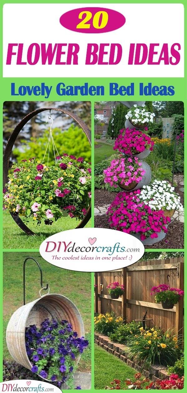 25 SIMPLE FLOWER BED IDEAS - Lovely Garden Bed Ideas