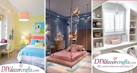 30 GIRLS BEDROOM DECOR IDEAS - Teenage Girl Bedroom Ideas for Small Rooms