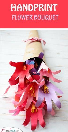 Handprint Bouquet - Unique and Fun
