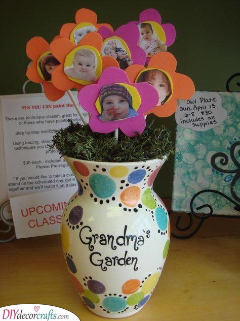 Floral Grandchildren - Cute Mothers Day Gifts for Grandma