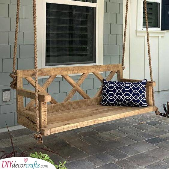A Swinging Chair - Perfect for Your Porch