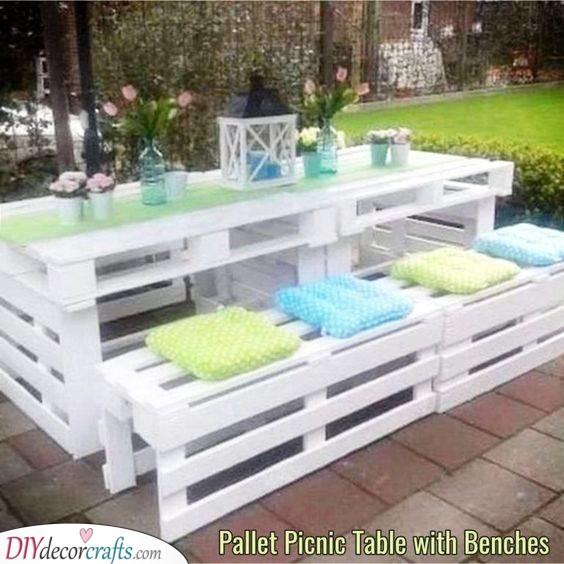 A Romantic Setting - DIY Garden Furniture