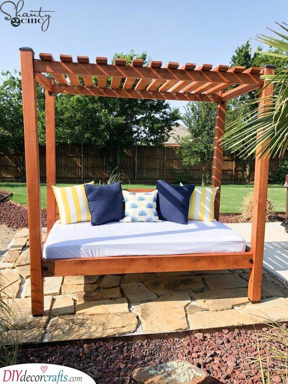 A Backyard Day Bed - Relaxation and Peace