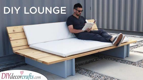A Comfortable Lounge Sofa - DIY Garden Furniture