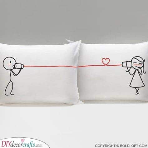 Beautiful Matching Pillows - Unique Gifts for Couples