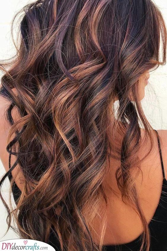 Raspberry Bourbon - Hair Color Ideas for Brunettes for Summer