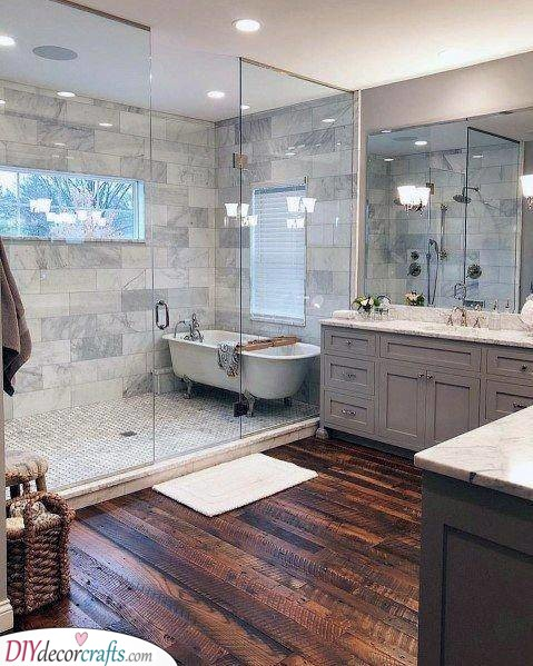 Dividing the Room - Modern Master Bathroom Designs