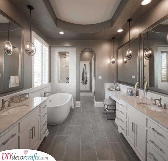 Beautiful and Dazzling - Master Bathroom Ideas