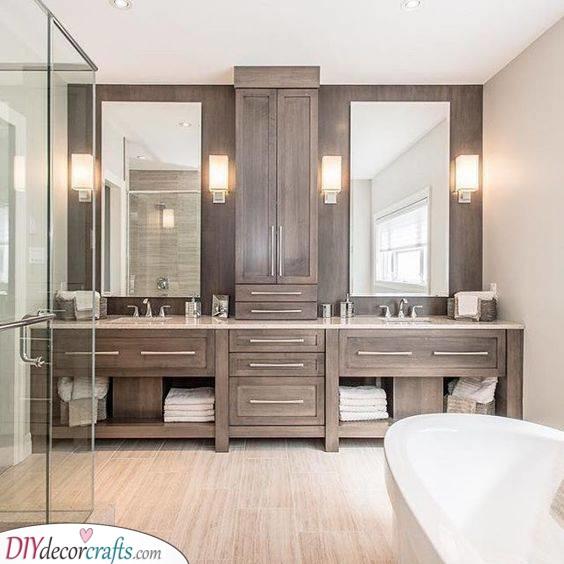 Wonderful in Wood - Master Bathroom Ideas