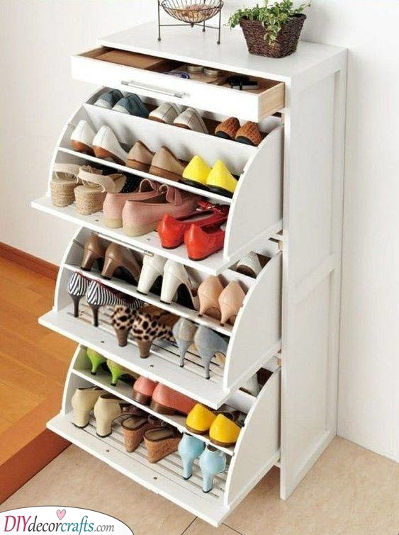 Pretty and Practical - Shoe Storage Ideas for Small Spaces