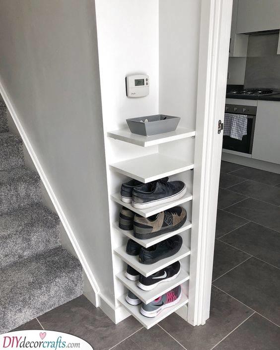 A Creative Corner - Shoe Storage Ideas for Small Closets