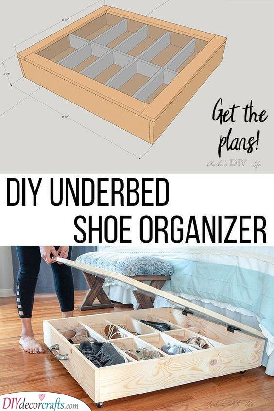 DIY Underbed Shoe Organizer - Perfect and Simple