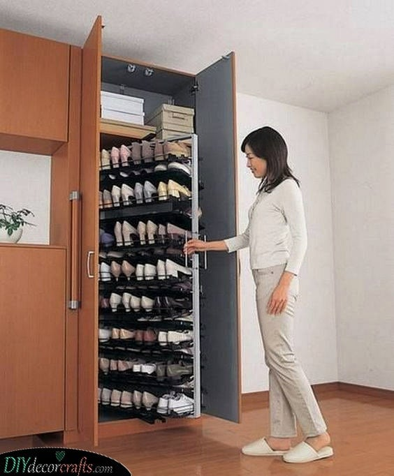 A Smart Shoe Rack - Shoe Storage Ideas for Small Spaces