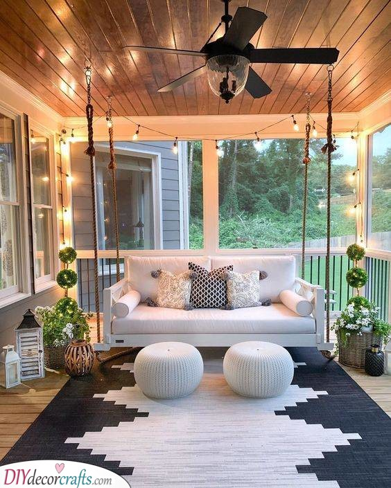 Dreamy and Gorgeous - Small Front Porch Ideas on a Budget