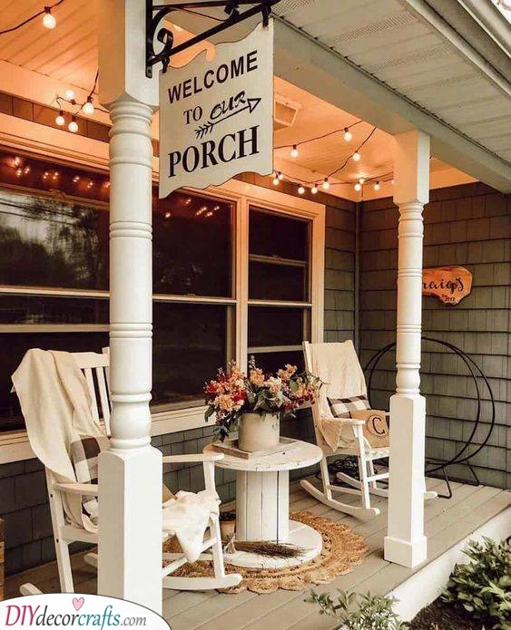 A Space of Relaxation - Small Front Porch Ideas on a Budget
