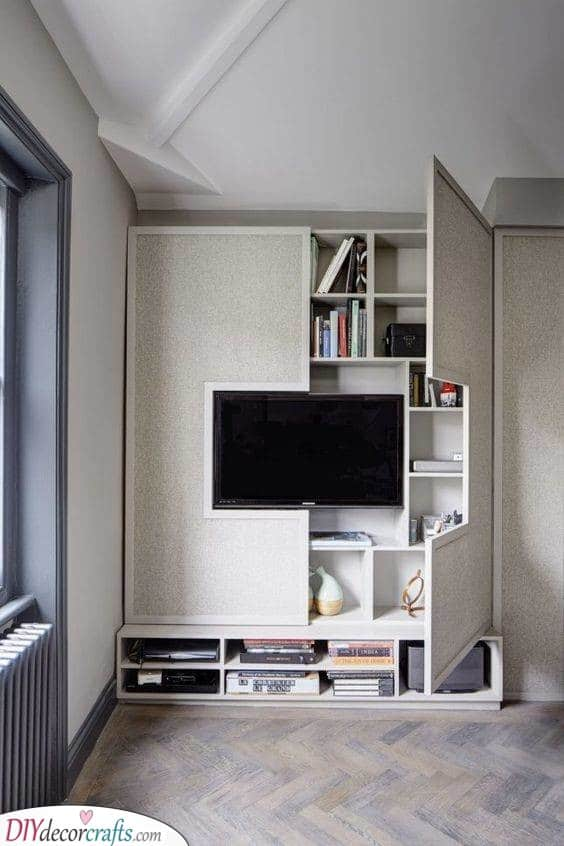 A Hidden Shelf - Surrounding Your Television