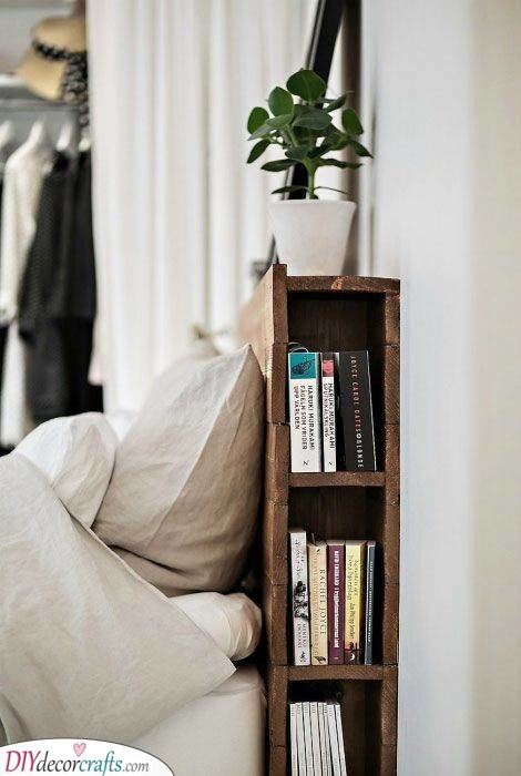 A Bookshelf - Storage Ideas for Small Bedrooms on a Budget