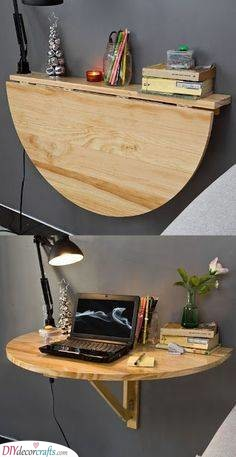 A Wall Table - Storage Solutions for Small Bedrooms