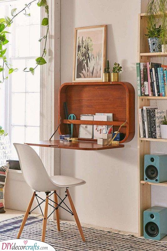 A Simple Desk - Storage Ideas for Small Bedrooms on a Budget