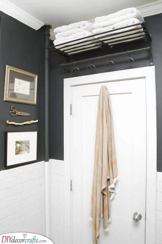 Above the Door - Bathroom Storage Ideas for Small Spaces
