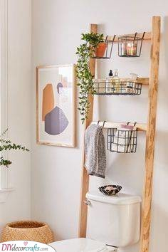 Frame the Toilet - A Fantastic Small Bathroom with Storage