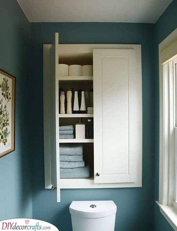 Above the Toilet - Small Bathroom with Storage