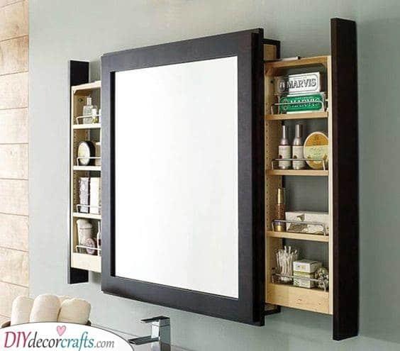 Hidden Storage Spaces - Behind Your Mirror