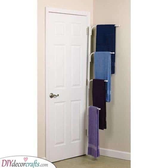 A Towel Bar - Bathroom Storage Ideas for Small Spaces