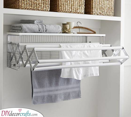 A Drying Rack - Mounted on a Wall