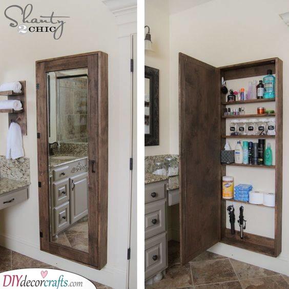 A Secret Door - Small Bathroom with Storage