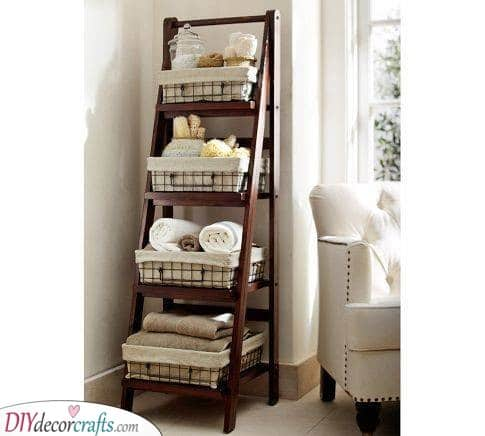 A Ladder Shelf - Everything in One Place