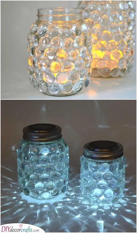 Mason Jar Luminaries - Easy Bedroom Light Ideas