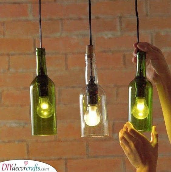 Wine Bottles - Decorative Lights for Bedroom