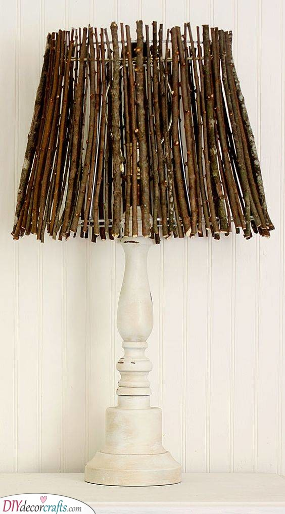 Natural and Earthy - A Twig Lampshade